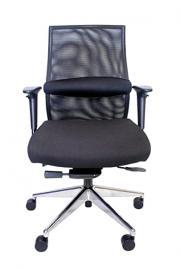 Century Office ZipAir Plus SwivelHeight Adjustable Mesh Office Chair, Black