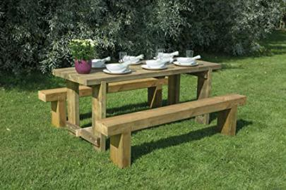 1.8m Refectory Table with Two Benches