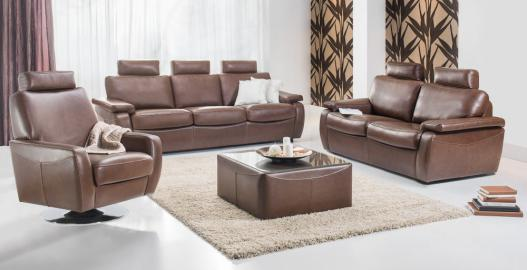 Aleksander - Faux Leather 2 seater sofa bed