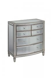 Antoinette Toughened Mirror Chest Of Drawers