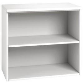 Arista Desk High Bookcase Single Shelf White KF74304