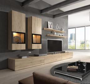 Wall unit Baros - affordable entertainment center