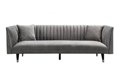 Baxter Three Seat Sofa - Dove Grey