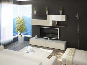 Brin 4 - entertainment center wall unit