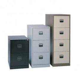 Contract 3 draw steel filing cabinet in Black