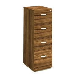 Impulse Filing Cabinet 4 Drawer Walnut - I000134