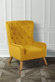 Dorchester Lounge Armchair, Mustard Yellow