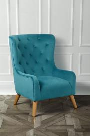 Dorchester Lounge Armchair, Aegean blue