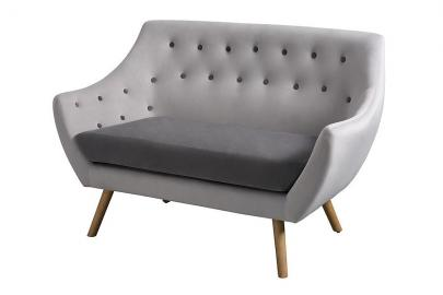 Poet Sofa, Grey Two Tones