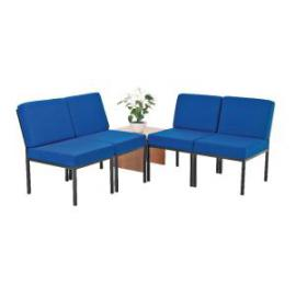First Reception Modular Seating Blue and Coffee Table Beech