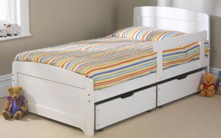 Friendship Mill Wooden Rainbow Kids Bed, Single Short, No Storage, Pink, No Guard Rail