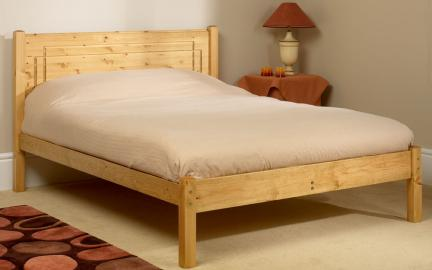 Friendship Mill Vegas Wooden Bed Frame, King Size, No Storage
