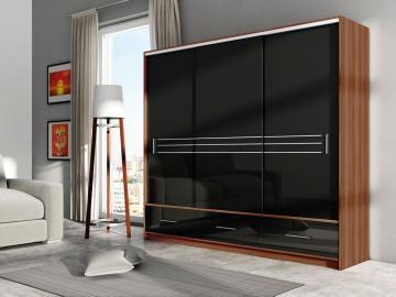 Alva 250 - Plum + black gloss wardrobe