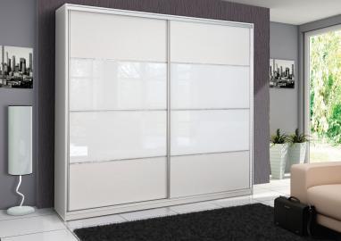 Rome - White sliding door wardrobe