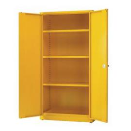Hazardous Substance Storage Cabinet 72x48x18 inch CW 3 Shelf Yellow