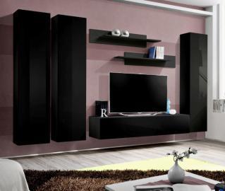 Idea d1 - black wall units for living room
