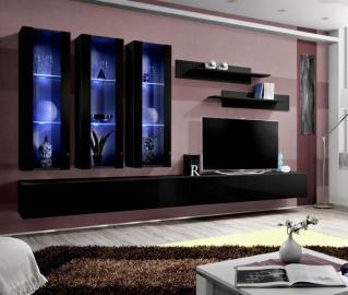 Idea E1 - black modern wall units