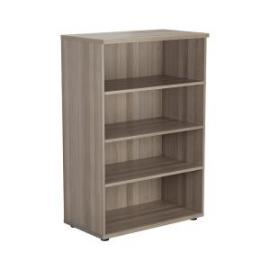 Jemini Walnut 1200mm 1 Shelf Bookcase KF840138