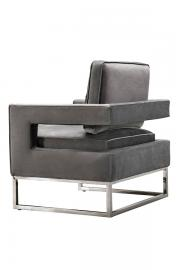 Kenza Armchair Dove Grey - Silver base