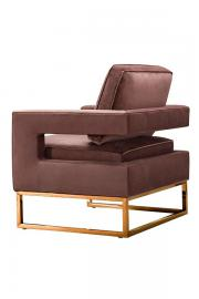 Kenza Armchair Blush Pink - Rose gold base