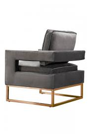 Kenza Armchair Dove Grey - Rose gold base