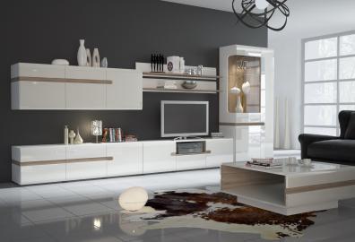 Linate 3 - white modern entertainment center