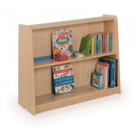 Low Single Sided Static Bookcase 1000 x 350 x 800mm, Moveable Castors