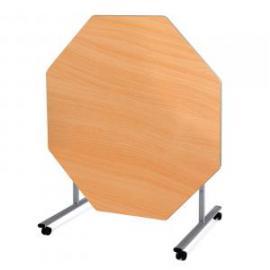 Metalliform Octagonal Tilt Top SteelFolding Dining Table 1200 x 1200 x