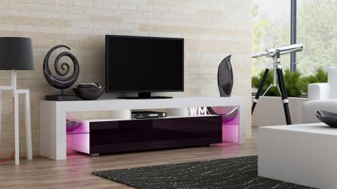 Milano 200 - white - red/purple modern TV stand