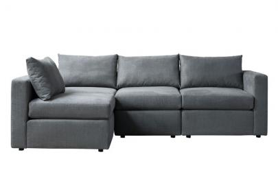 Miller Three Seat Corner Sofa - Left or Right Hand – Charcoal