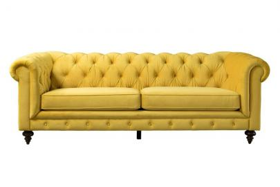 Monty Three Seat Sofa – Mustard