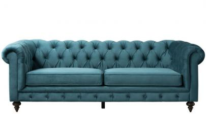Monty Three Seat Sofa – Peacock