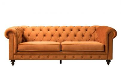 Monty Three Seat Sofa – Pumpkin