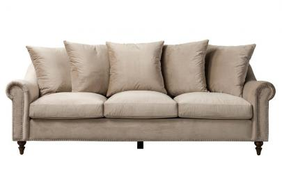 Portman Three Seat Sofa - Taupe