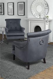 Positano Lounge Armchair - Storm Grey