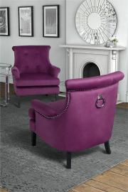 Positano Lounge Armchair - Mulberry