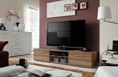 Soto 3 - walnut matt tv cabinet