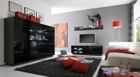TOGO 2 - black entertainment center