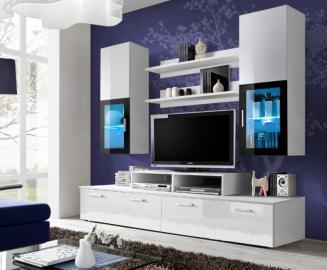 Toledo 1 - white high gloss wall unit