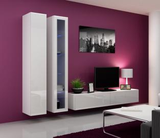 Seattle 9 - gloss white entertainment set furniture