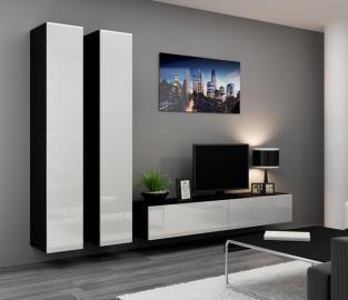 Seattle 15 - black & white modern entertainment center