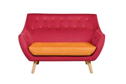 Poet Sofa, Luxor Cranberry Two Tones