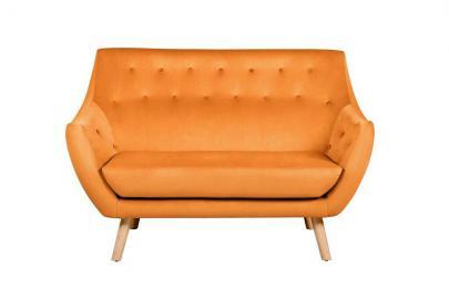 Poet Sofa, Luxor Orange Single Tone