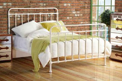 ISOBEL Victorian Dorm Style Cream  Bed
