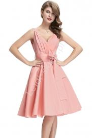 Bawełniana sukienka w stylu vintage   sukienka lata 60-te 8955 - Lejdi
