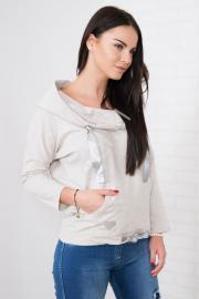 Bluza z kapturem beżowa - Lejdi