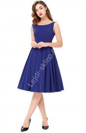 Chabrowa sukienka z plisowanym dołem | chabrowe sukienki, sukienka na wesele, studniówkę, komunie - Lejdi