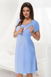 Niebieska koszula nocna dla ciężarnych i karmiących Dorota