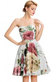 Sukienka w kwiaty dekolt serduszko. Sukienka wesele, dla druhen , sukienka na bal gimnazjalny - Lejdi