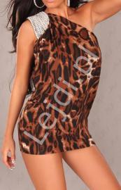 Sukienko - tunika z wzorem panterki - Lejdi